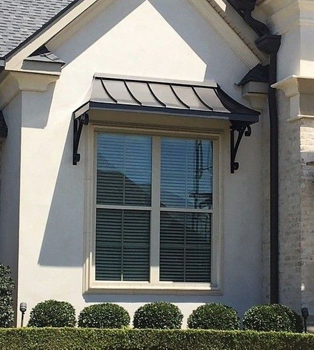 Awningdesign Posted To Instagram The Bronze Juliet Awning With The Lazy Scrolls Modern Farmhouse Exterior French Exterior Window Awnings