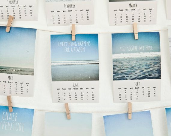 2014 Beach calendar  photo calendar by SusannahTucker on Etsy, $19.00