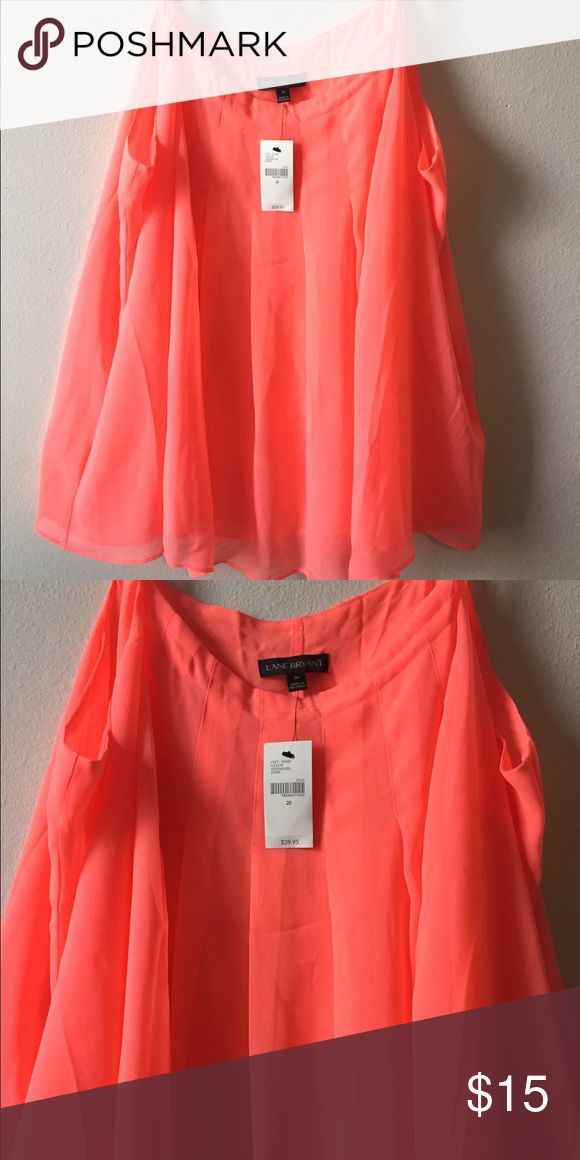 Lane Bryant NWT NEON Orange Top Sz 20 Lane Bryant NWT NEON Top Sz 20. Tried one, but lost receipt . Has small mark on right side under arm. Lane Bryant Tops Blouses