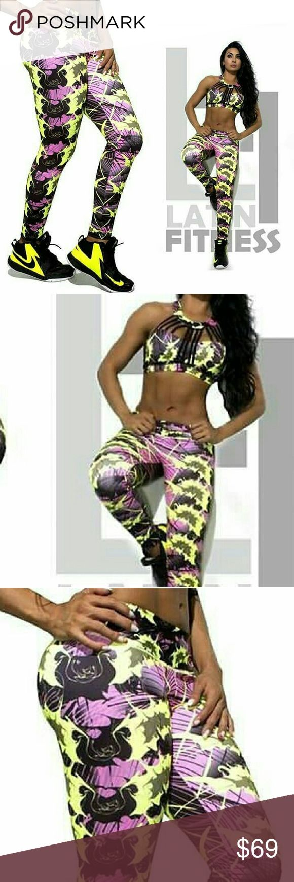 Set top + legging Sportwear One Size Perfect for women size S and M Colombian Brand  Other