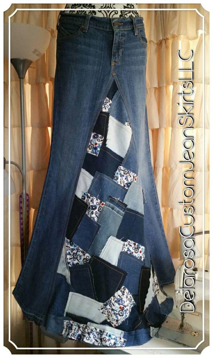 NEW style!! Dorothys Flower Patch denim skirt.  ⚘Named after my sweet Grandma⚘  All denim Patchwork skirt, even the floral patches are denim.  Features include: •ALL Denim •Maxi length •Patchwork front •Finished Hem •Floral patches •Double stitched on all seams •Frayed Look patchwork  All sizes can be custom ordered.  I do a finished hem with double stitch around the bottom. A one of a kind skirt that will defiantly have the WOW factor! ***
