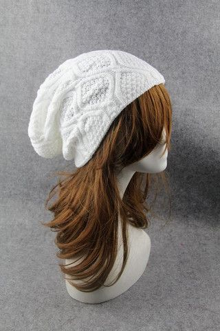 White Cabled Knitted Hat