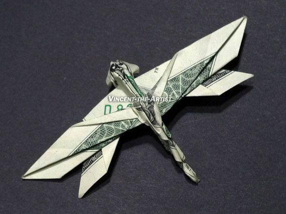 DRAGONFLY Dollar Origami