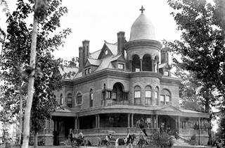 DATE TAKEN  1890s  TITLE  Seiberling Mansion  DESCRIPTION  Elegant brick Victorian mansion constructed by industrialist Monroe Seiberling during Indiana's Gas Boom. Later the home of George Kingston, developer and manufacturer of the Kingston carburetor and other components used by early auto manufacturers. In 1946, it was acquired by Indiana University and became the first home of IU-Kokomo.  Indiana