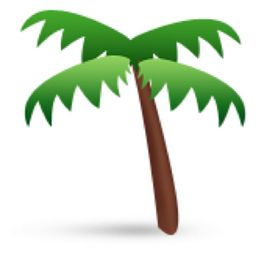 The Palm Tree Emoji on iEmoji.com