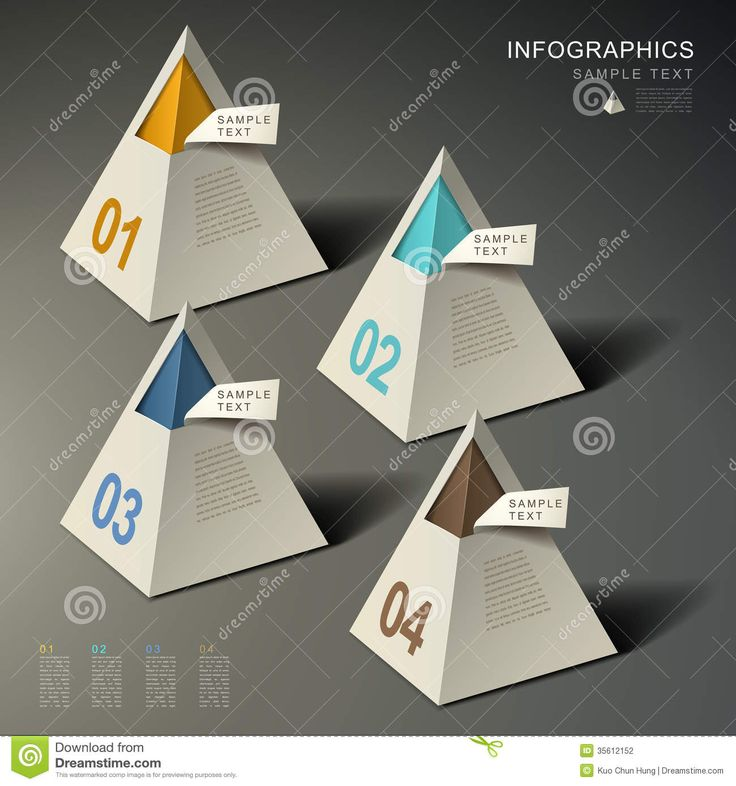 Photo about Realistic vector abstract pyramid infographic