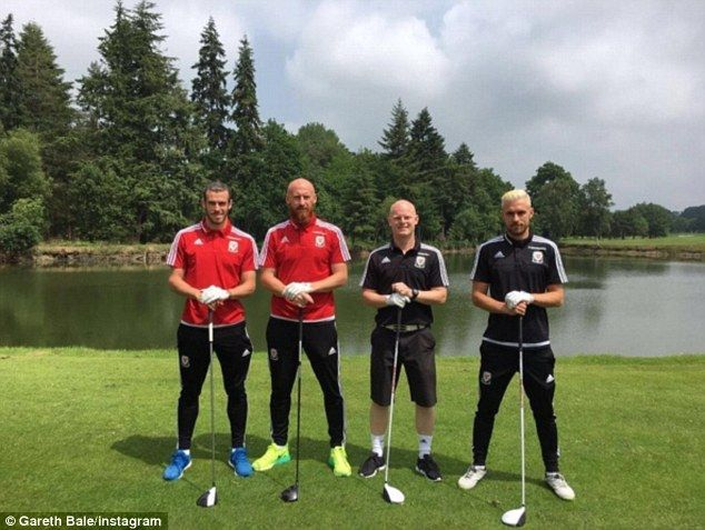 Bale and Wales team-mates hit the links as in Euro 2016 preparation