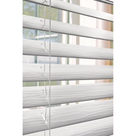 "Better Homes and Gardens 2"" Faux Wood Blinds, White - Walmart.com"
