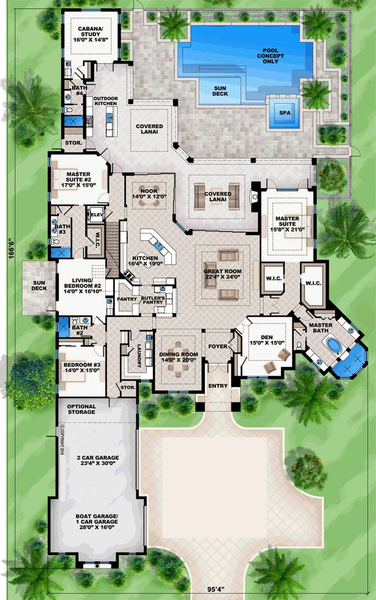 Home plans with pool home designs with pool from homeplans com - Best 25 One Level Homes Ideas On Pinterest One Level House Plans One Floor House Plans And Ranch House Plans