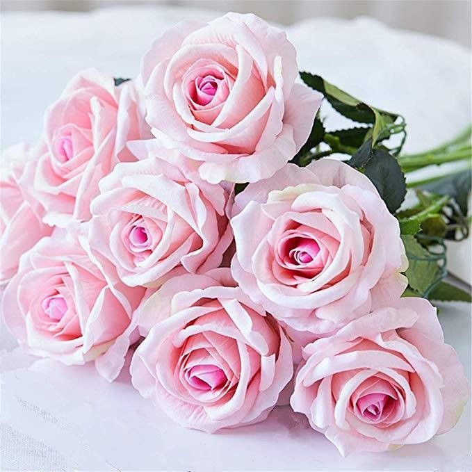 Beautiful Rose Peony Artificial Silk Flowers Small Bouquet Flores Decoration#TA
