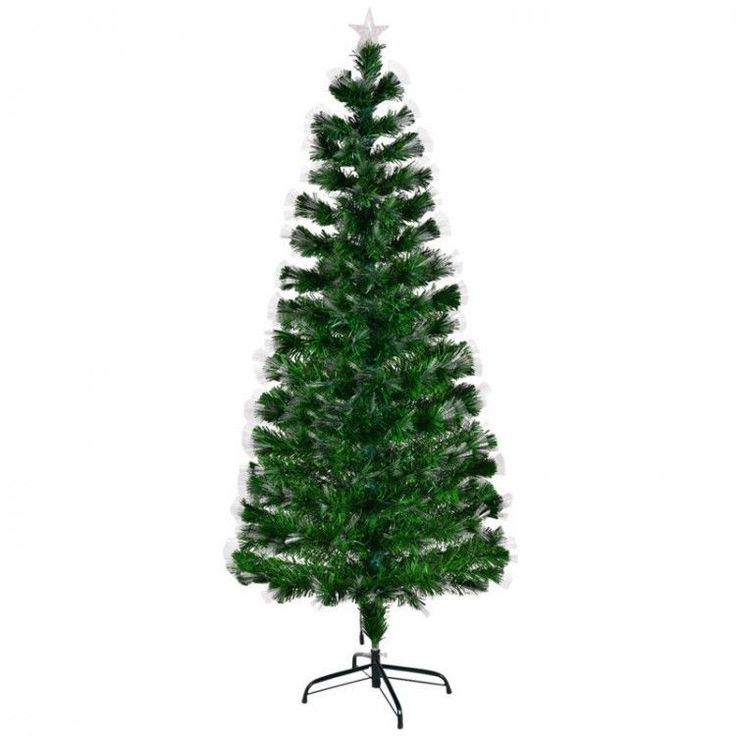 Holiday Artificial Christmas Tree Home Xmass Decor Green 6 FT LED Blossom Effect #HolidayArtificialChristmasTree