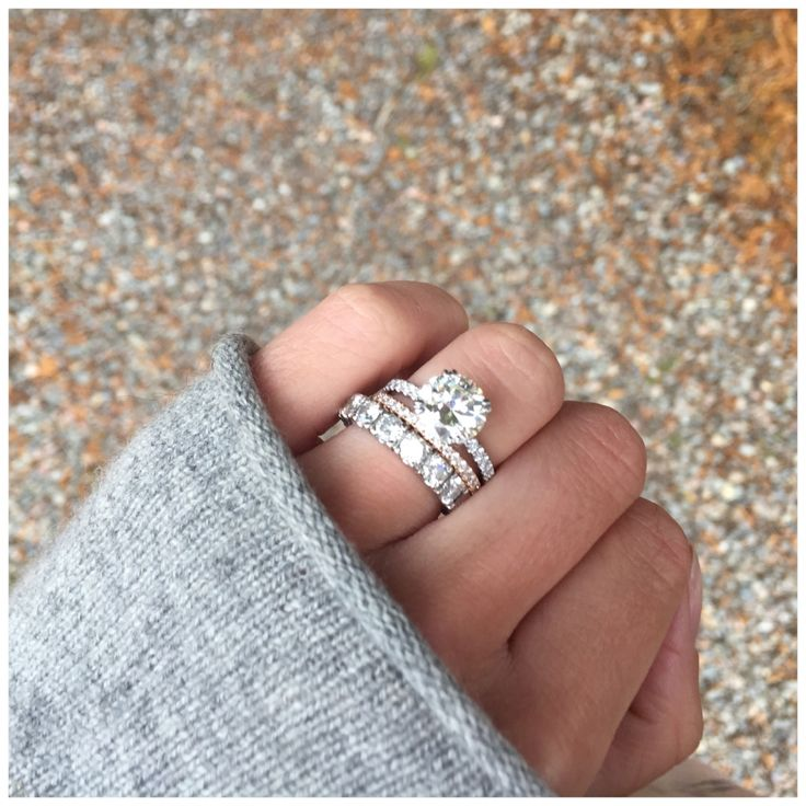 the wifey herself lets us in on her stunning engagement ring engagement ring expose - Engagement Rings With Wedding Band