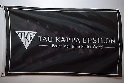 Tau Kappa Epsilon s4 FRATERNITY Letters College Licensed Flag 3x5