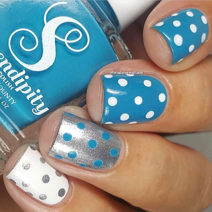 "442 Likes, 12 Comments - Serendipity Nail Polish (@serendipitypolish) on Instagram: ""Polka Dots ______________________________________ WAKE. PRAY. SLAY. Midnight Kisses …"""