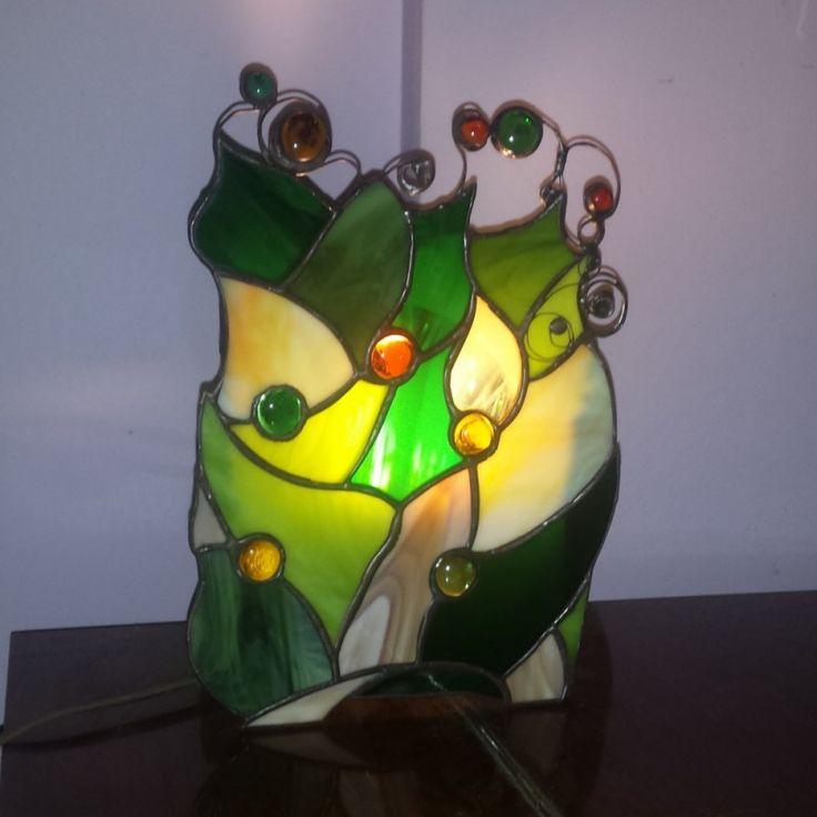 Veioza vitraliu verde - Cadouri Imperfecte