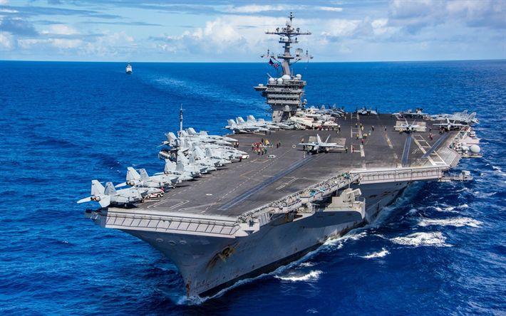 Download wallpapers USS Carl Vinson, aircraft carrier, CVN 70, US Navy, USA, Nimitz class