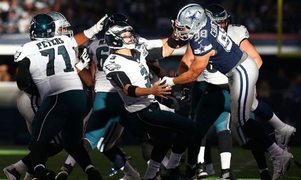 The spotlight shines on the Philadelphia Eagles and the Dallas Cowboys as they play an NFC East game with division title implications.