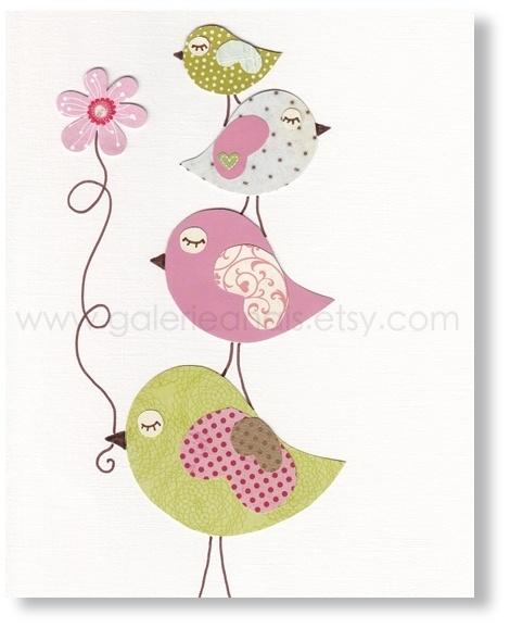 Les 25 meilleures id es concernant illustration d 39 oiseaux - Illustration chambre bebe ...