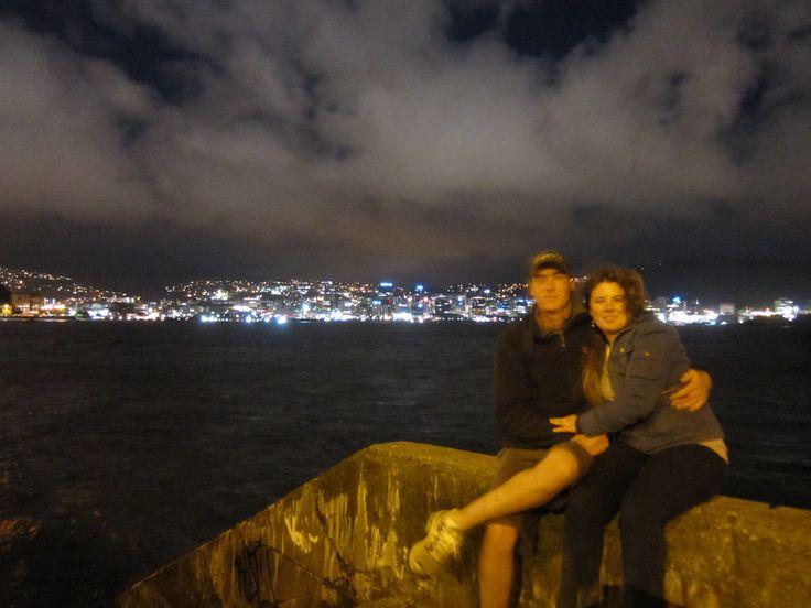 Wellington nz oriental bay at night
