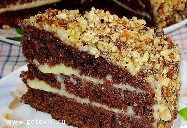 Готовить Вкусно (ツ): Шоколадный торт на кефире «Фантастика»