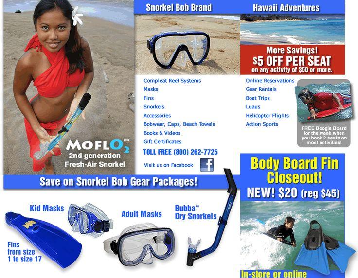kauai Rental of snorkel equipment