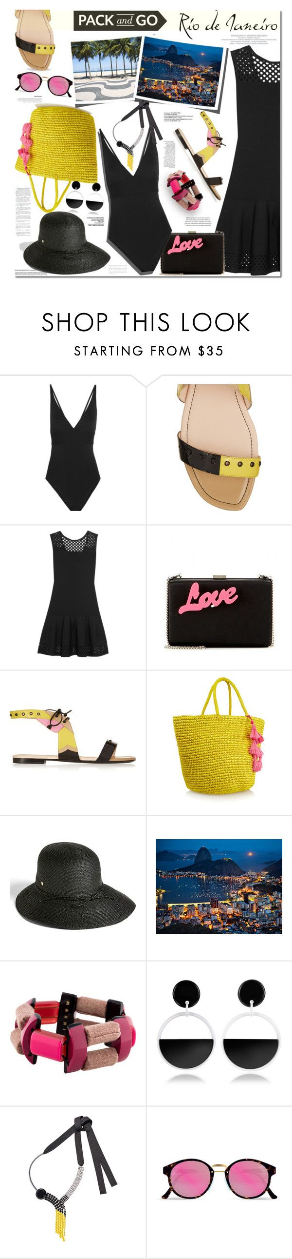 """Pack and Go:  Rio de Janeiro"" by margaretferreira ❤ liked on Polyvore featuring Eres, Fendi, Anja, STELLA McCARTNEY, Helen Kaminski, National Geographic Home, Marni, RetroSuperFuture, CENA and Packandgo"