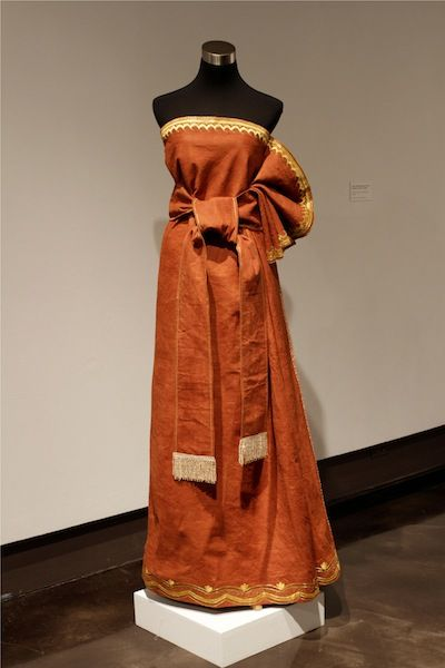 Ugandan barkcloth dress-Bark cloth,locally known as Mutuba and produced in the Buganda kingdom since 13th century.