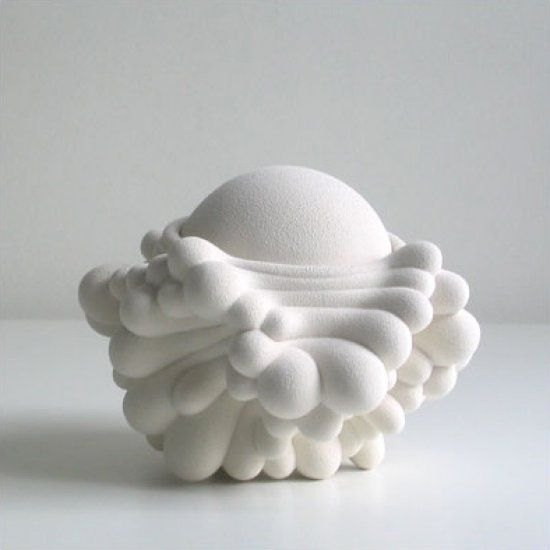 white art sculpture ceramic Kristine Tillge Lund #clay