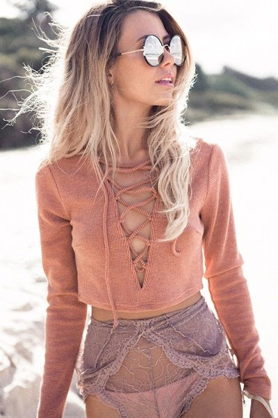 Buy Burnt Laced Top Online - Tops - Women's Clothing & Fashion - SABO SKIRT