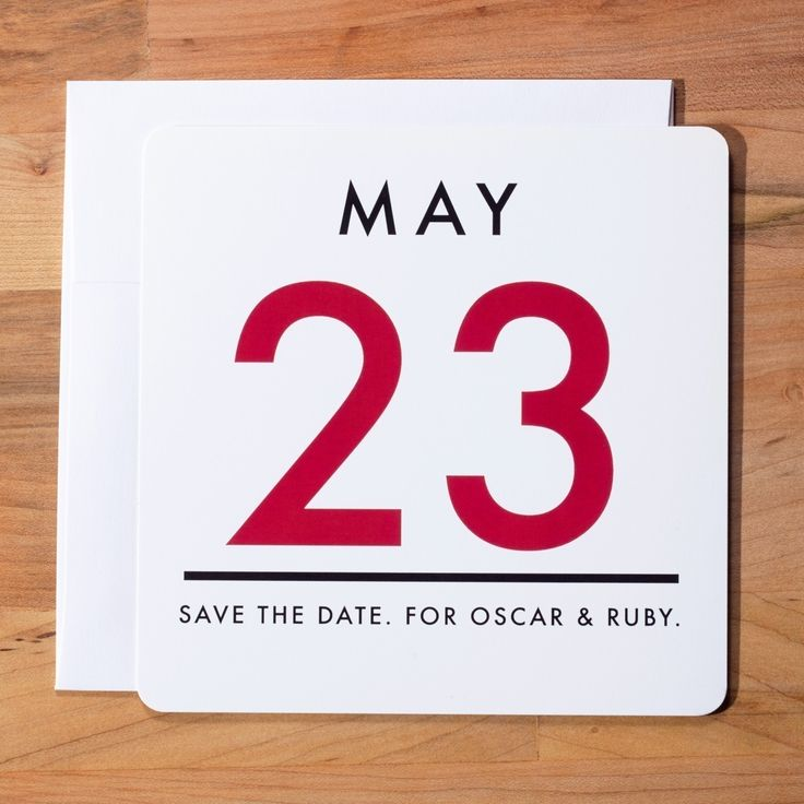 Wedding Invitation Save the Date - Vintage Calendar Save the Date Set. $2.75, via Etsy.