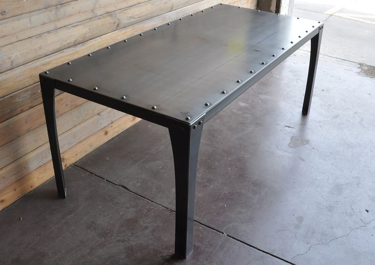 Simple Metal Table $2300 (can have no rivets w same price)