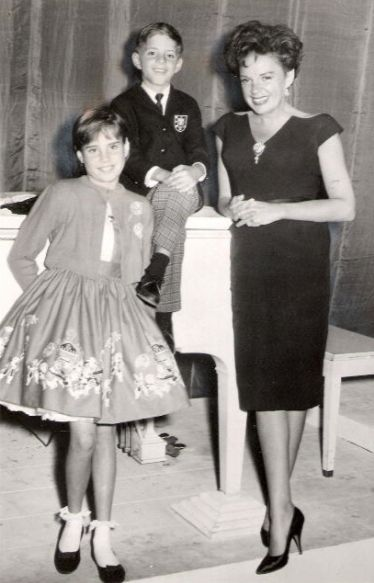 Lorna Luft, Joey Luft, and their mother Judy Garland