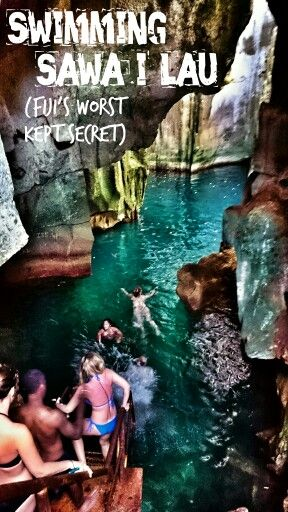 Sawa-i-Lau #Caves #trip, in the #Yasawas, #Fiji. Fancy a dip? Just one of the great #activities on offer with #AwesomeAdventuresFiji