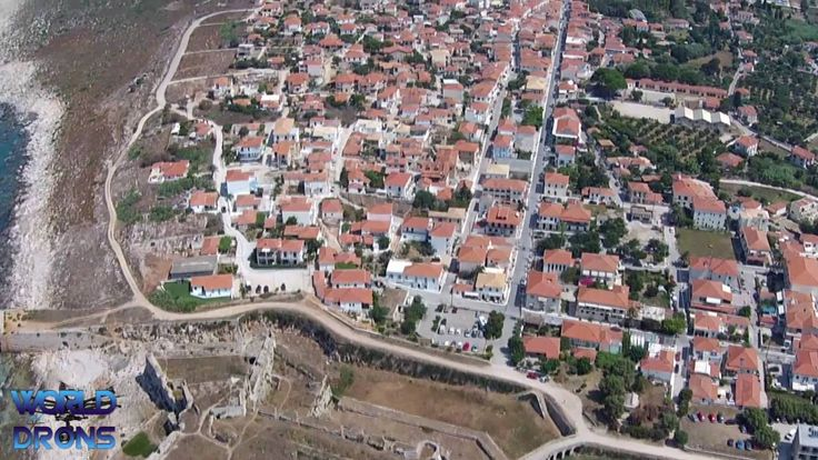 Drone Aerial Video : Greece , Methoni Greek: Μεθώνη Kástro and Bourtzi
