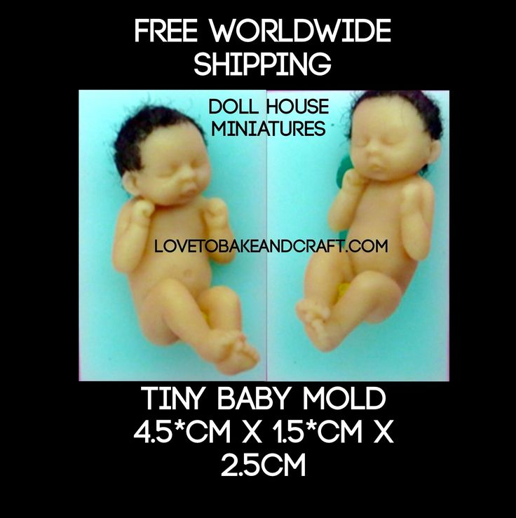 Doll house baby, miniature baby, baby mold, baby miniature, doll house, from lovetobakeandcraft.com