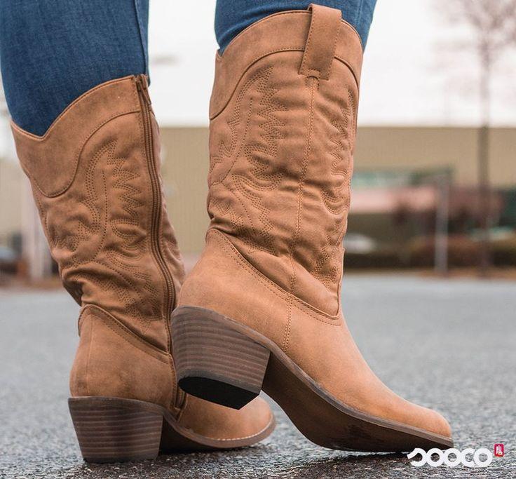 🤠Howdy, Cowgirl! Deze western boots zitten zooo lekker! https://www.sooco.nl/every-one-taylor-bruine-cowboylaarzen-31113.html