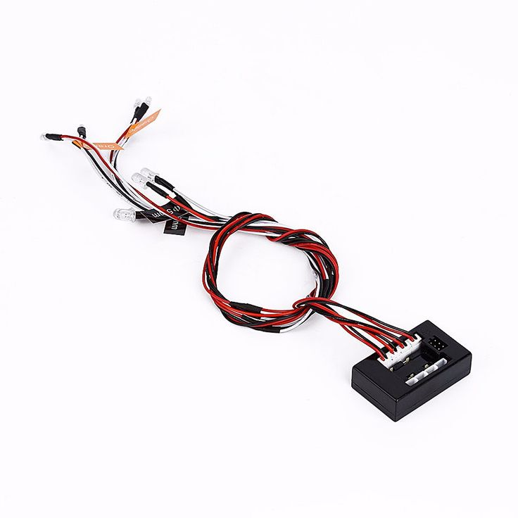 RC C24574 Remote Car 8 LED Lights Steering Strobe Lights with T2 Complete LED System Control Box for RC Car 3 Colors