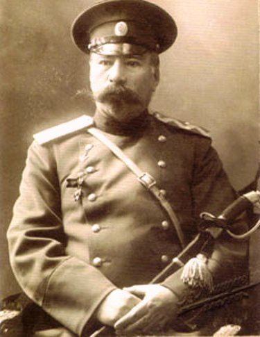 Amir Kazim Mirza Govanly-Ghajar (1853 Shushi, Nagorno-Karabakh, Azerbaijan - 1920 Ganja, Azerbaijan), Major-General. In 1881, the year as one of the finest cavalry officers took part in the ceremony of the coronation of Emperor Alexander III. In 1902 he was appointed to the high post of first deputy commander of the regiment, and in 1910 he was awarded the rank of Major General. In 1920, Amir Kazim Mirza Govanly-Ghajar was killed in Ganja on the orders of the emergency Commissioner Tihareli.