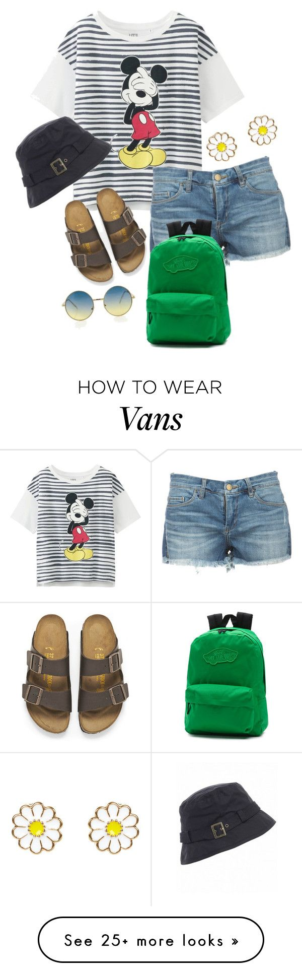 """Mouse & Shorts."" by clothes-wise on Polyvore featuring Uniqlo, Vans, Birkenstock, Barbour and Monsoon"