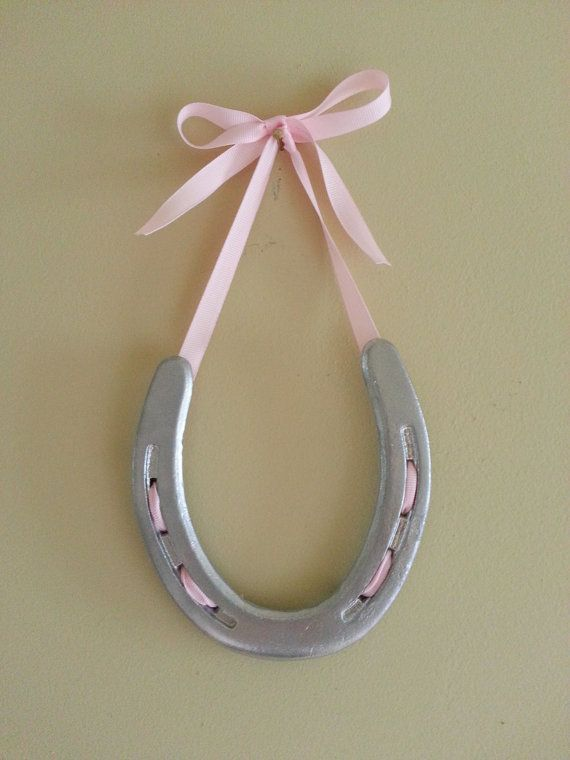 Painted Lucky Horse Shoe by LuckyPonyShop on Etsy, $35.00