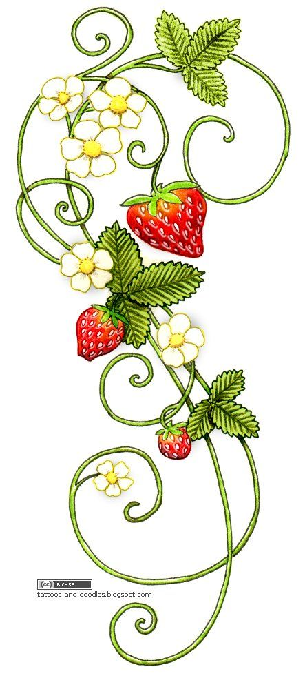 Strawberry Tattoo Designs | Tattoos and doodles: Strawberries tattoo