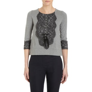 Zhor & Nema Lace Bib Sweater, maybe DIY?