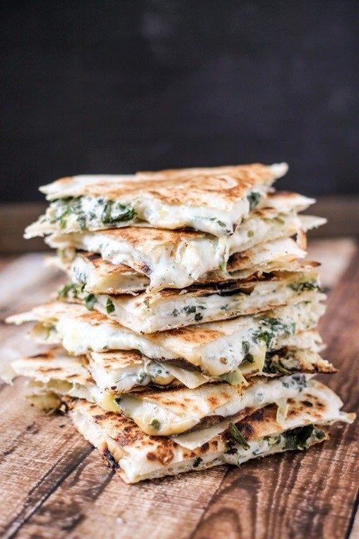 Spinach Artichoke Quesadillas