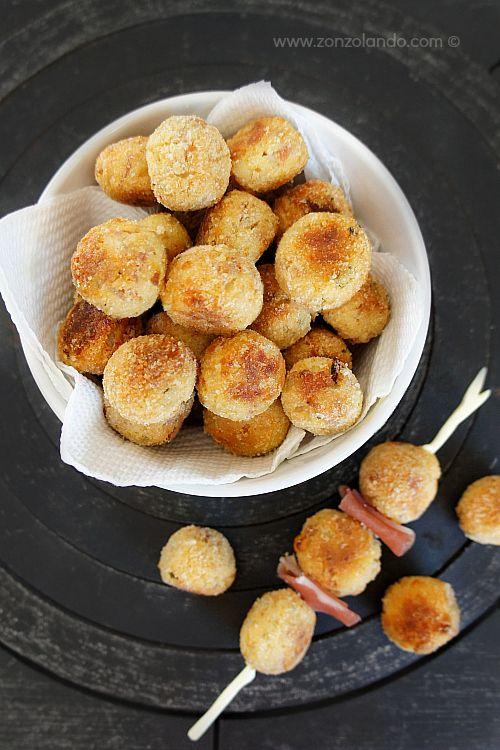 Polpettine di speck e ricotta al forno - Baked ricotta and italian smoked ham balls