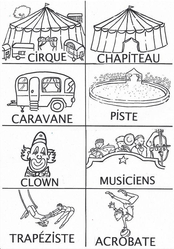 imagier du cirque en noir et blanc