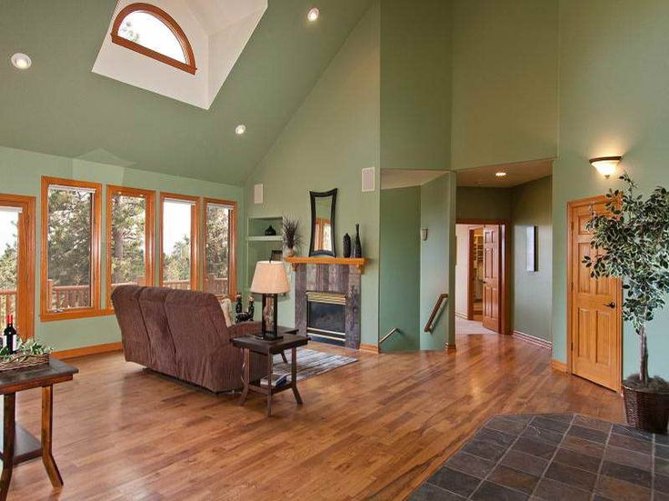 Vaulted Ceiling Lighting Ideas with wooden floor | Vaulted ...