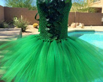 Vestido inspirado en campanita disfraz de Halloween tutu
