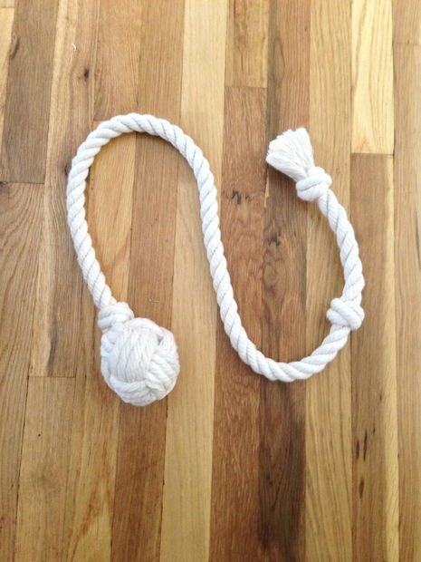 How to make a ball and rope dog toy