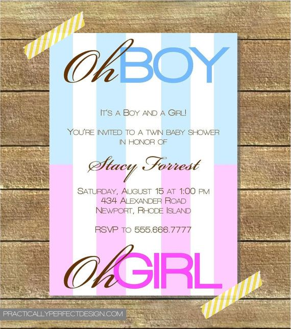 best twins images on   baby twins, twin babies and, Baby shower invitation