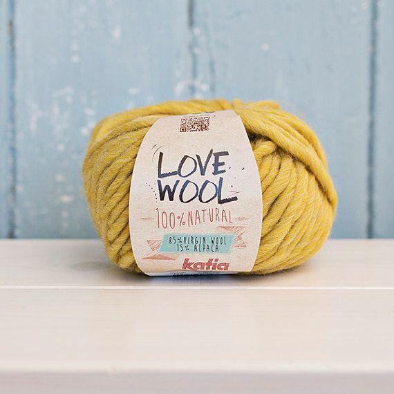 Love wool Yarn Wool & Alpaca mustard yellow by Soulmadehome